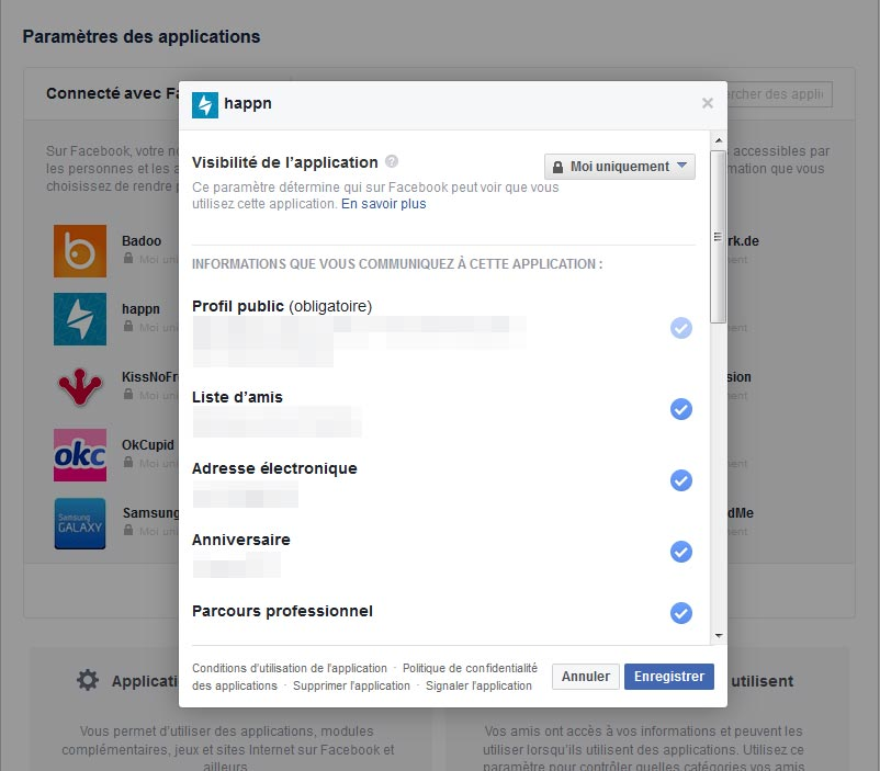 Rencontre facebook application