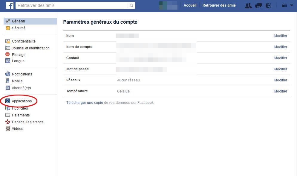 Facebook applications