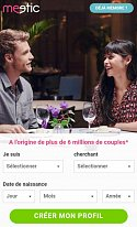 Screenshot Meetic mobile